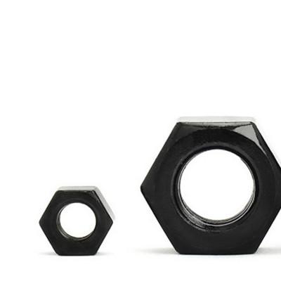 永年厂家碳钢高强度六角螺母黑色加厚外六角螺母螺丝帽