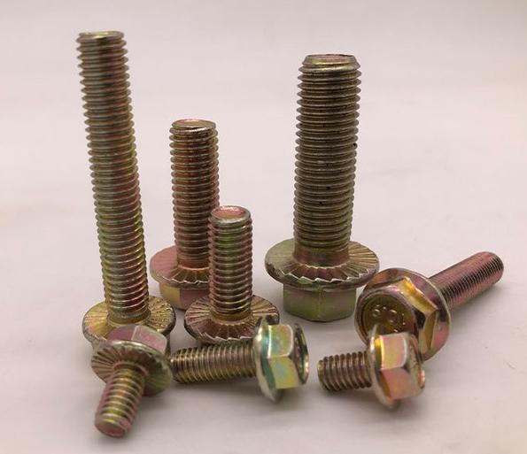 永年厂家直销 带垫螺栓 防滑带齿螺栓 法兰盘螺栓 法兰面螺丝