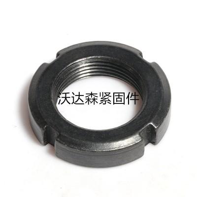 永年厂家GB812国标圆螺母开槽锁紧螺母