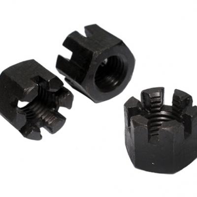 永年厂家现货供应开槽螺母轴轮杆固定槽型螺母镀锌