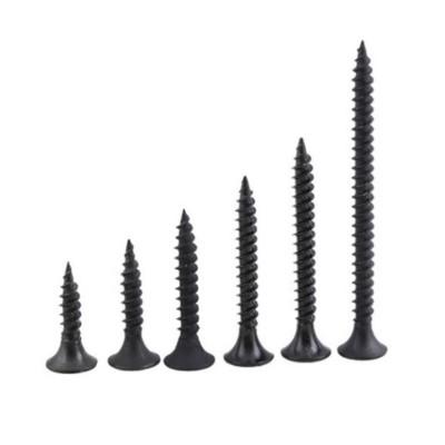 永年厂家黑色高强度磷化干壁钉沉头十字自攻螺丝石膏板螺丝钉