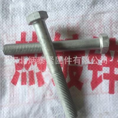 永年厂家批发热镀锌螺栓8.8级M16*30