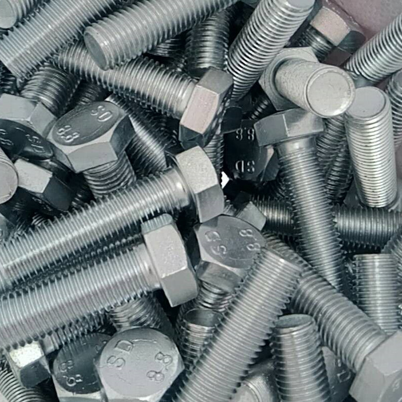 永年厂家高强度六角螺栓 8.8级镀锌六角头螺栓