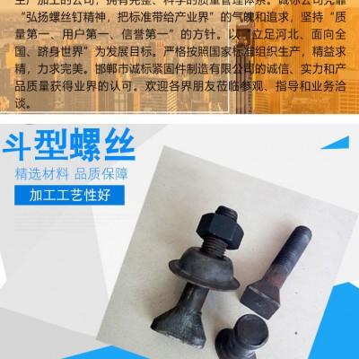 永年厂家斗型螺栓M12-M30 斗型四方头螺丝