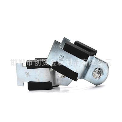 永年厂家抗震支吊架配件P型卡 带胶皮P型管卡