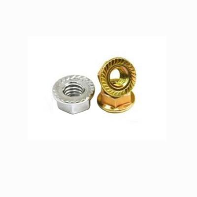 永年厂家镀彩锌法兰螺母碳钢4.8级带垫螺帽